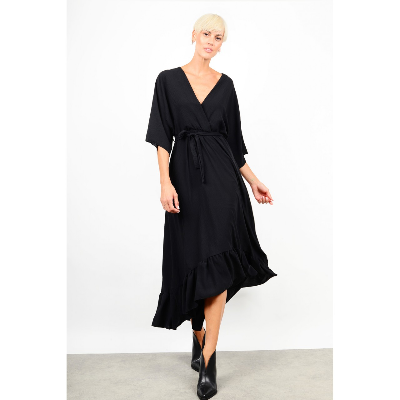 Maxi asymmetrical dress