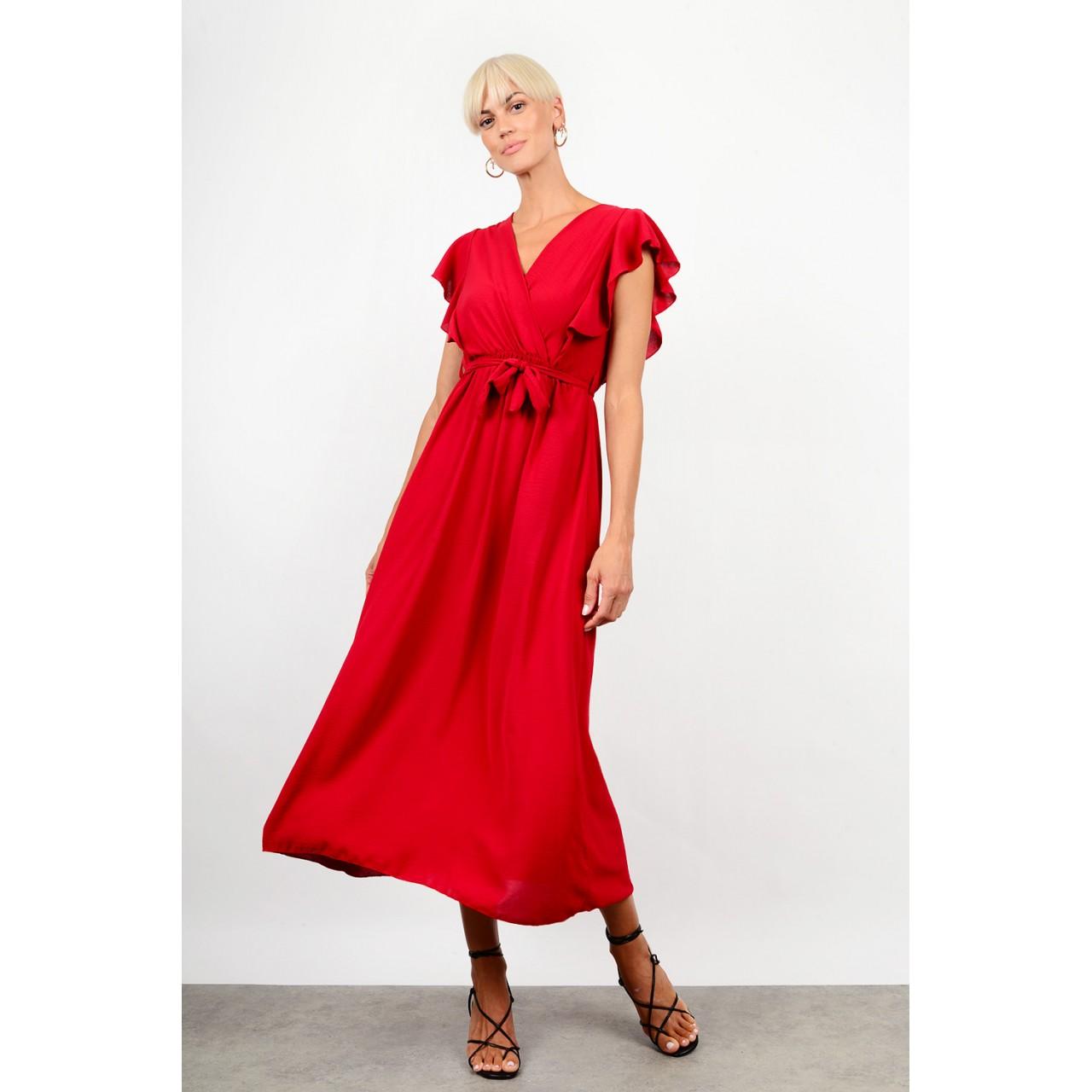 Maxi ruffled dress