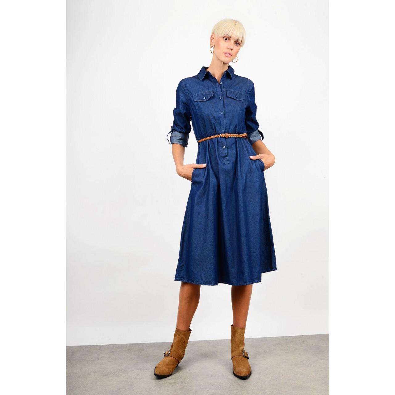 Midi jean dress