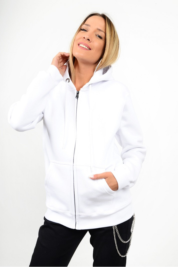 Sweatshirt hooded cardigan