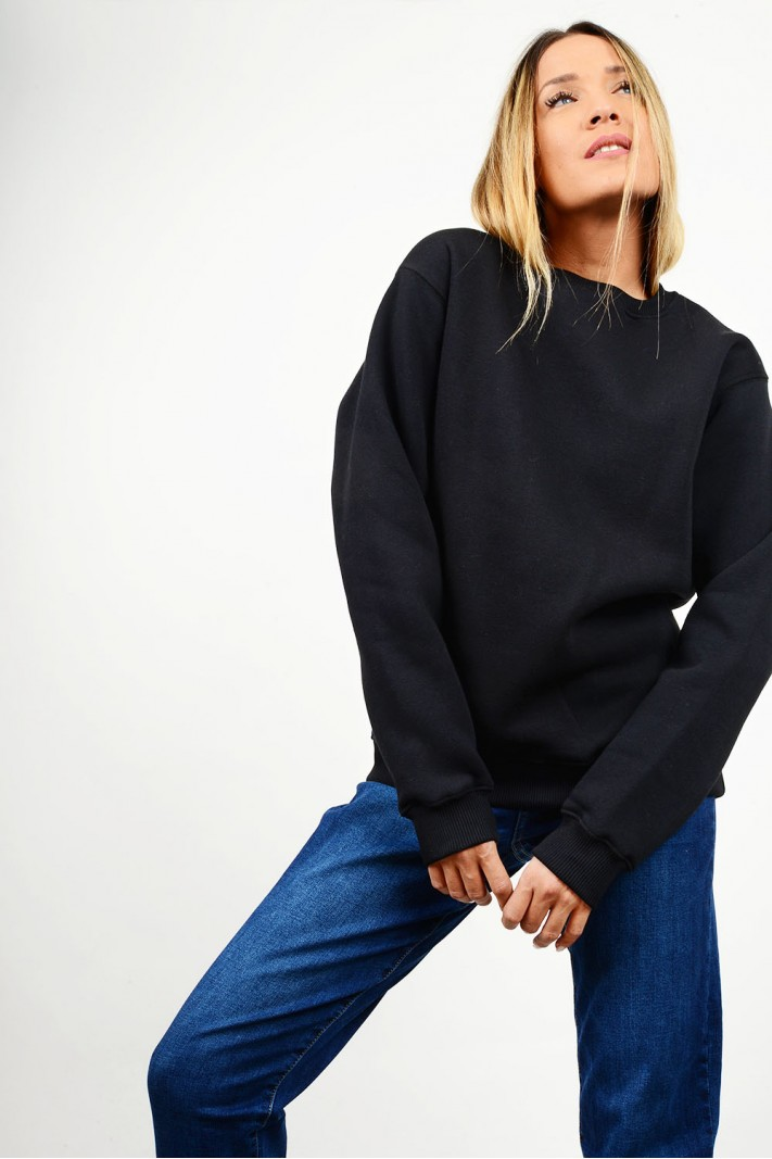 Sweatshirt blouse round neck