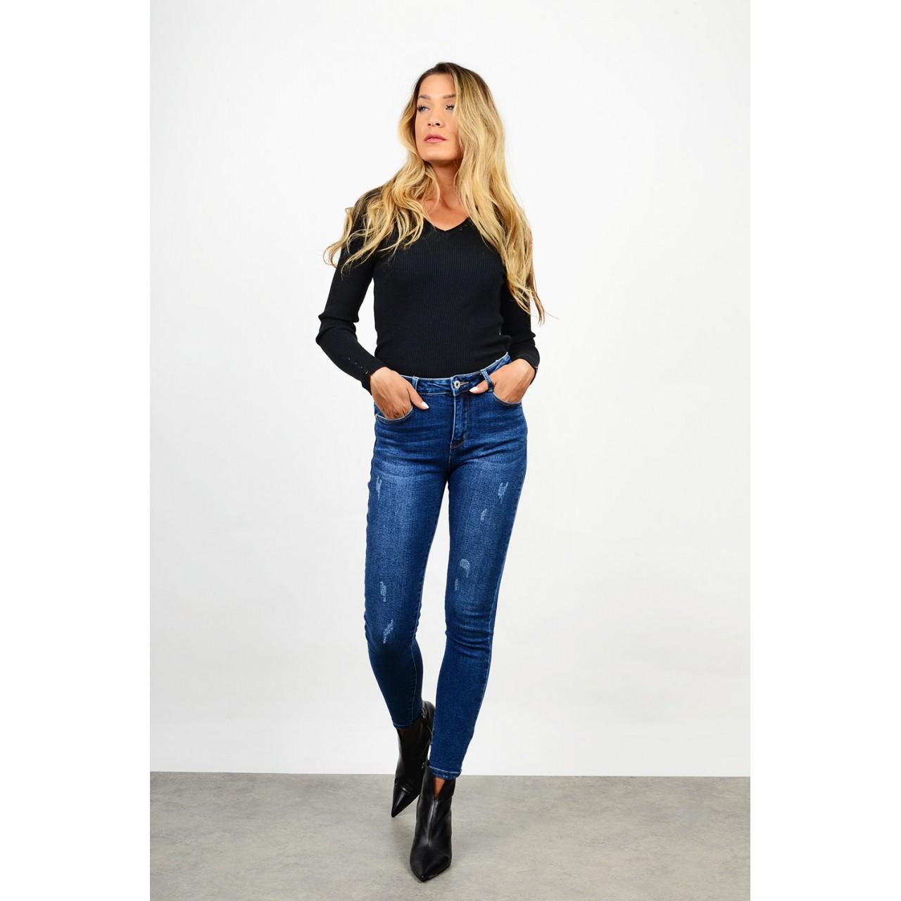 Push-up high waist jean