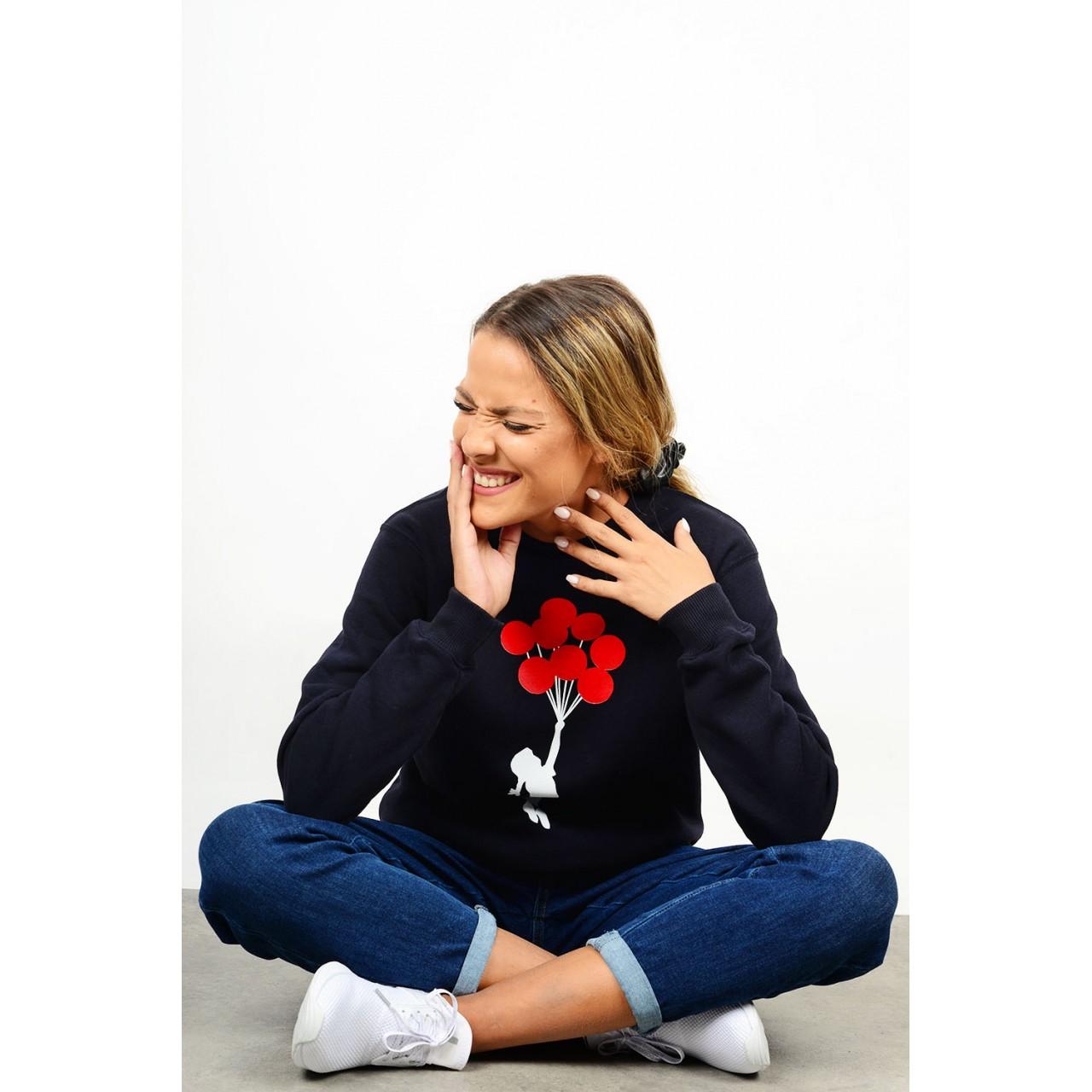 Sweatshirt printed blouse round neck
