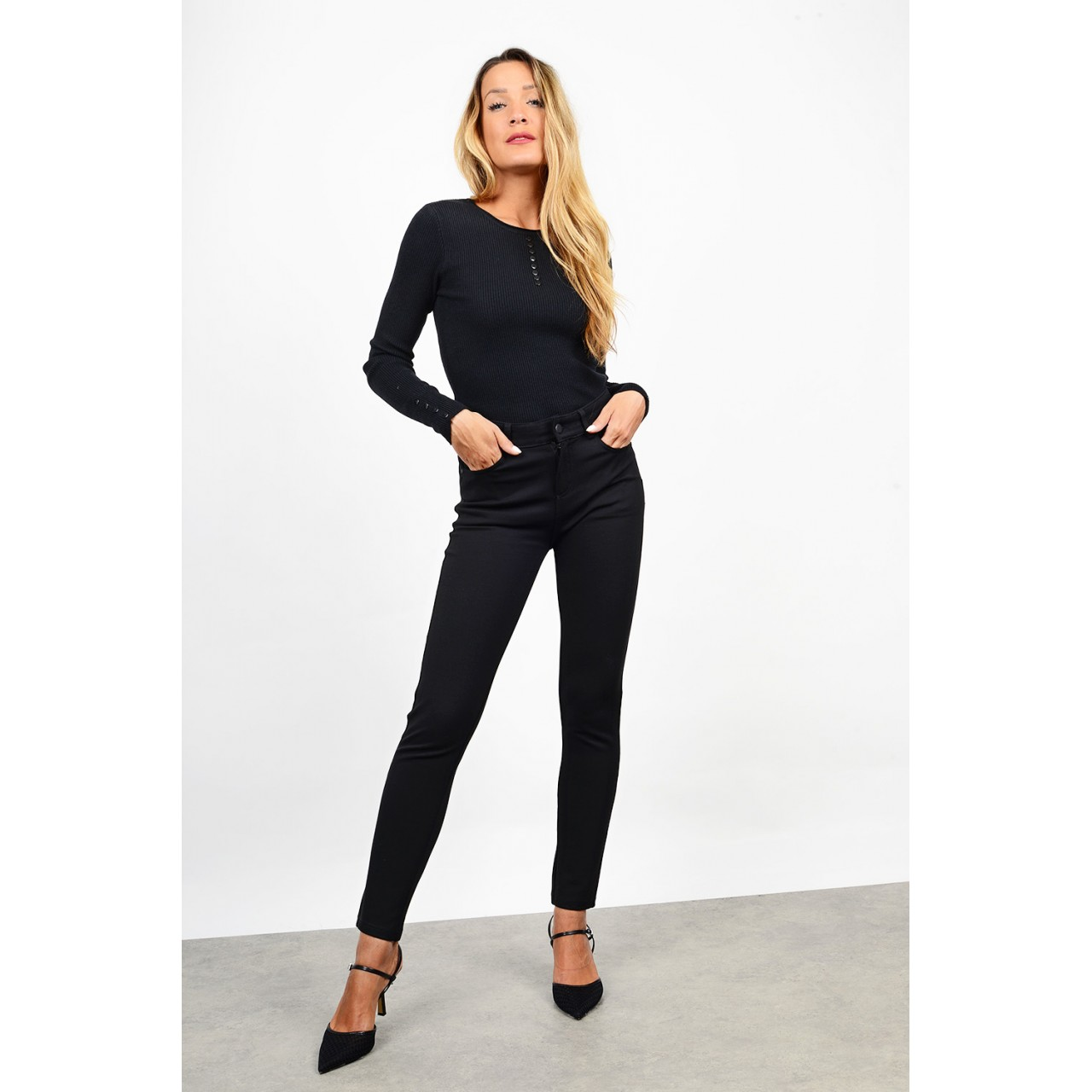 High waist push-up pant + plus sizes
