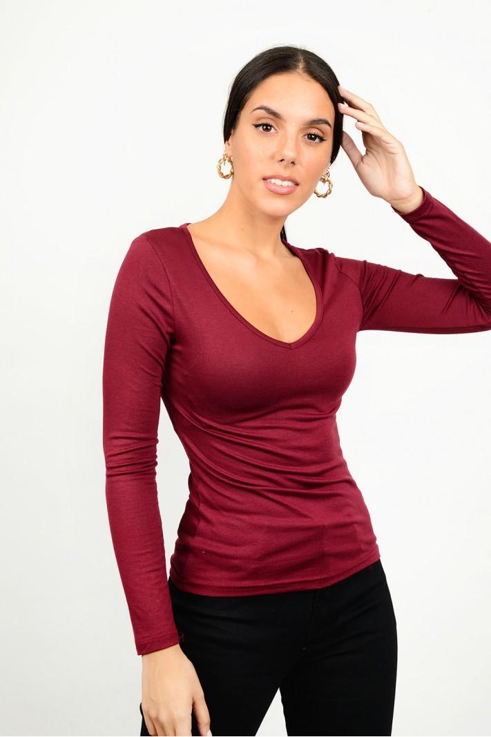 Basic blouse v neck