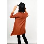 Oversized asymmetrical knitted blouse/dress