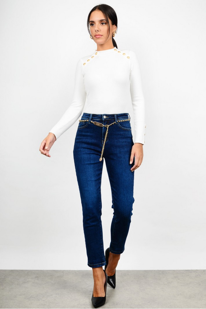 Push-up high waist jean