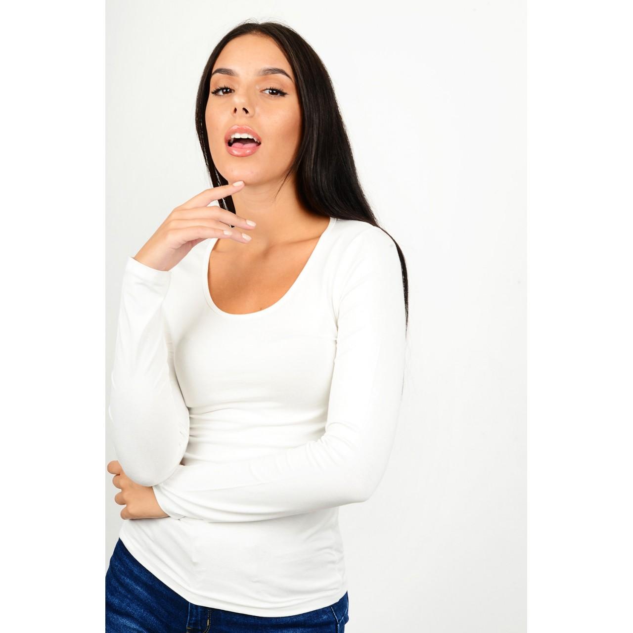 Basic blouse round neck
