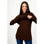 Oversized long knit with pattern
