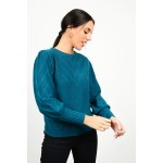 Knit with wide sleeves