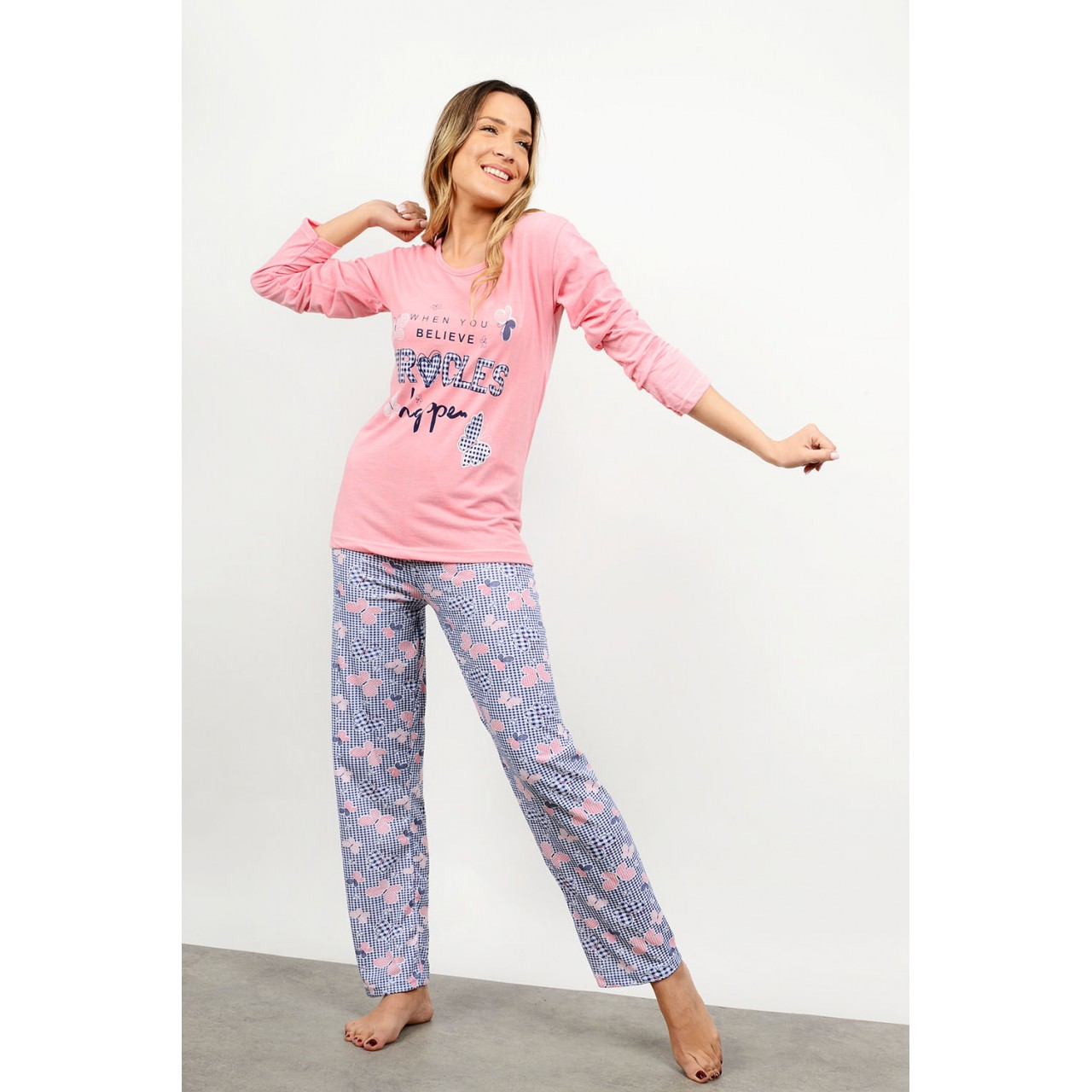Set pyjamas with pattern