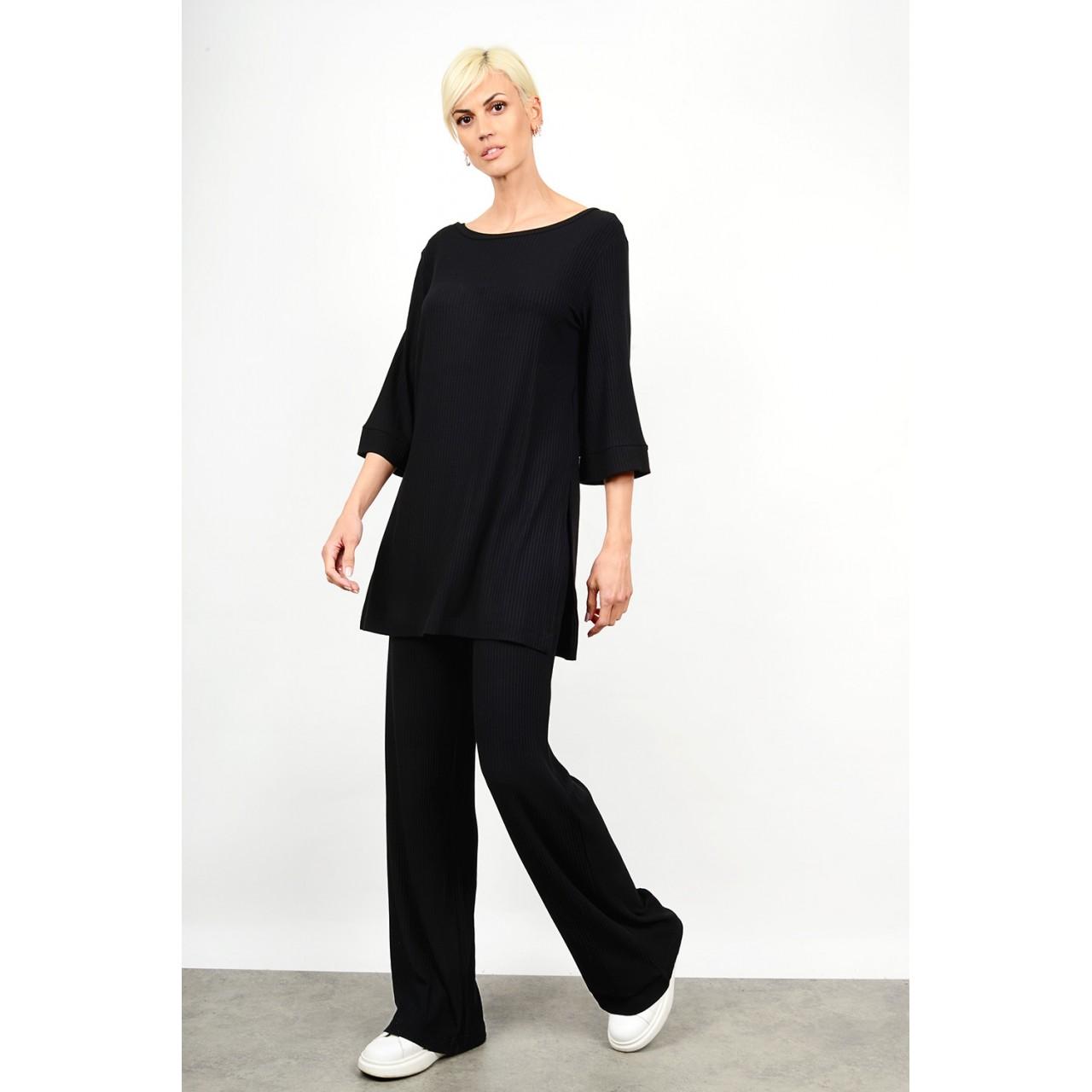 Set rib blouse with pant