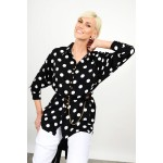 Oversized polka dotted shirt with belt Limited Edition