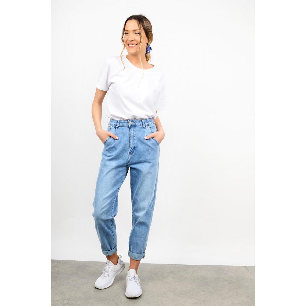 Slouchy high waist jean