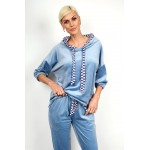 Velvet set blouse with pant