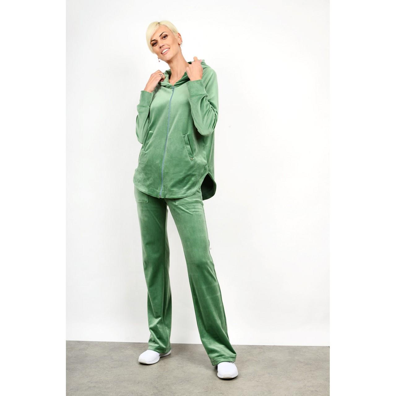 Velvet set cardigan with pant