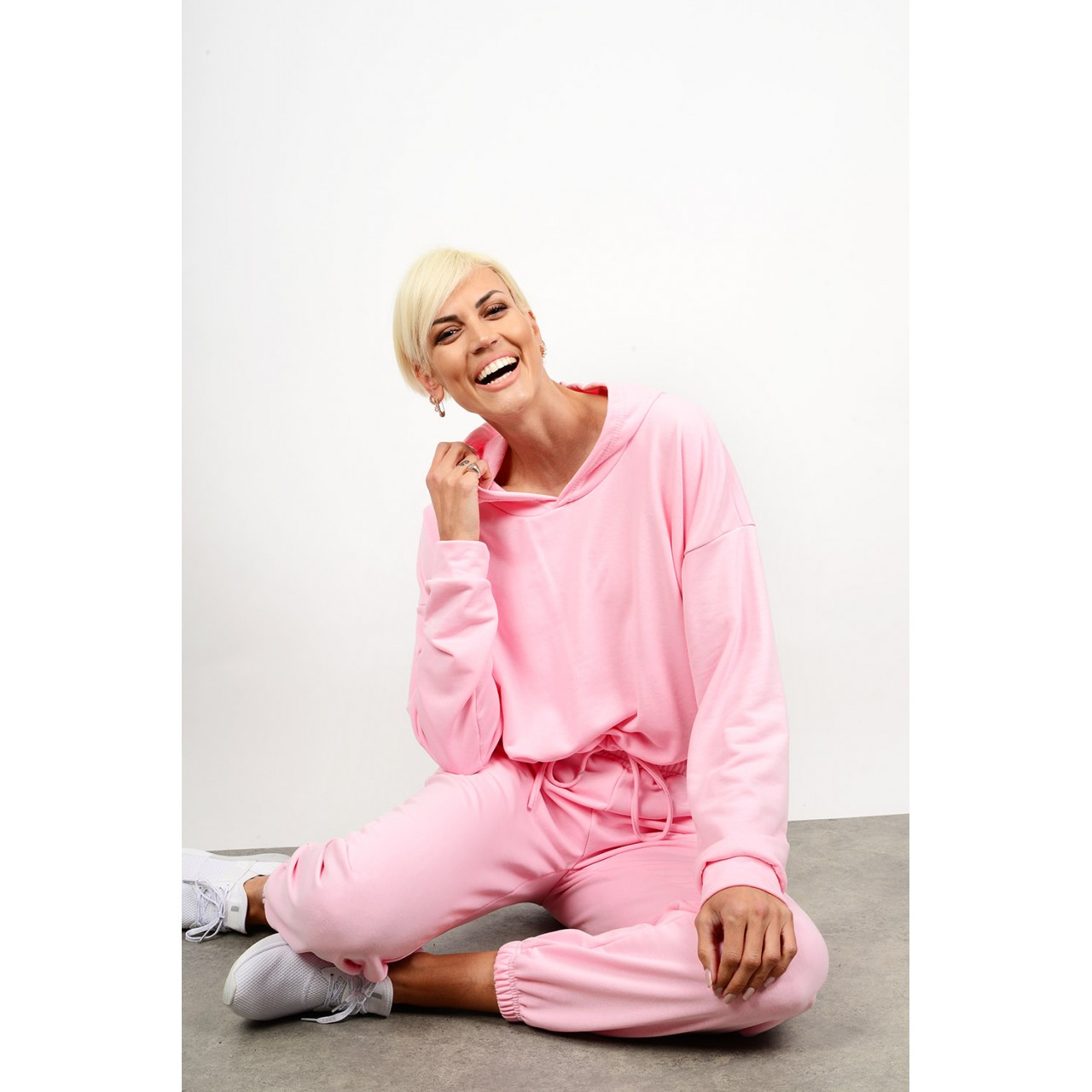 Sweatshirt tracksuit set blouse with pant