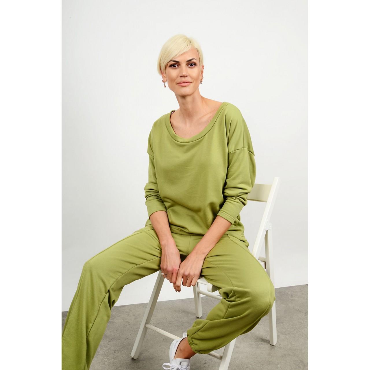Sweatshirt tracksuit set blouse with pant