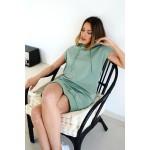 Sleevless hooded blouse/dress