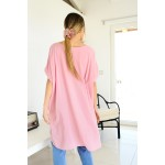 Oversized asymmetrical long shirt