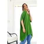 Oversized asymmetrical long shirt