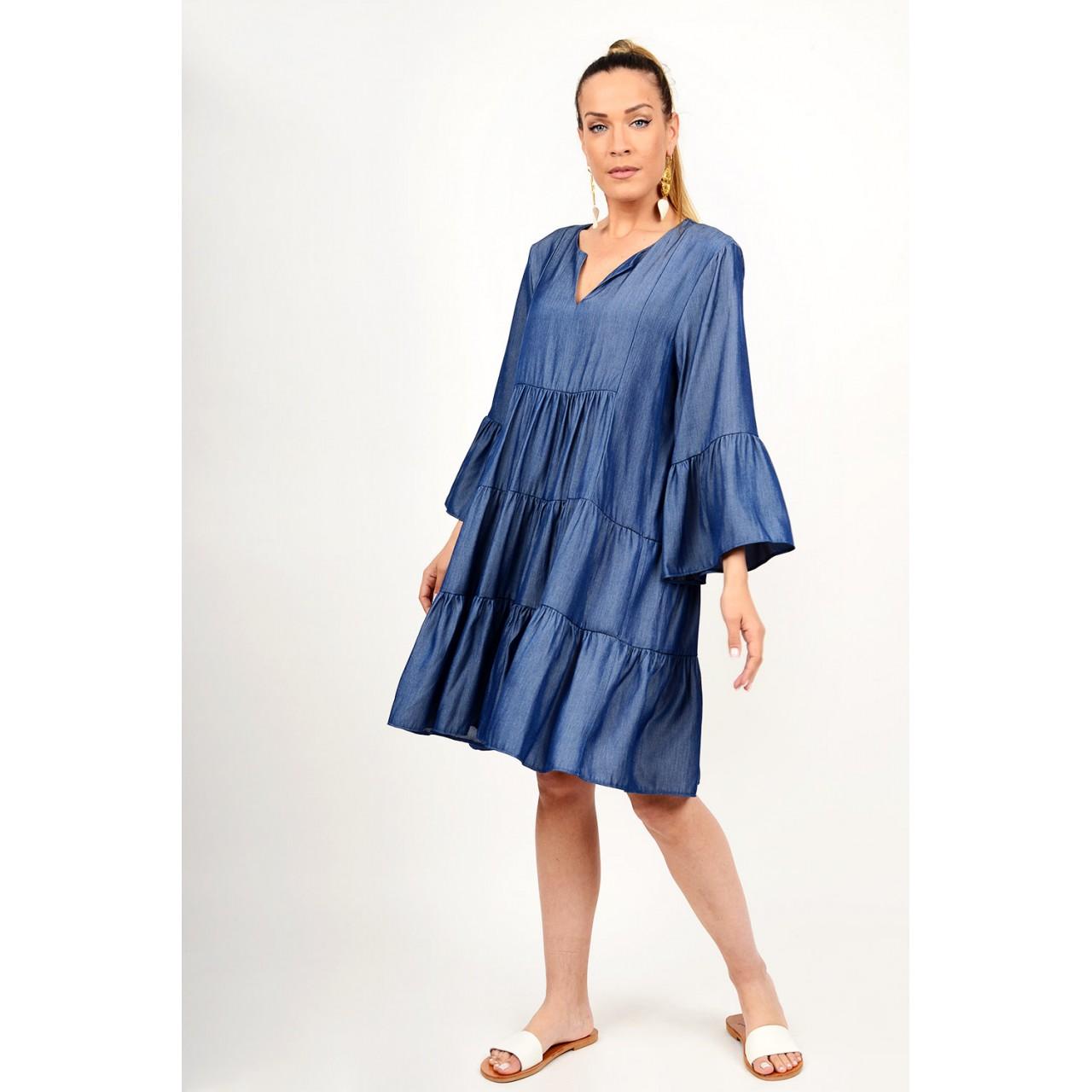 Midi jean boho dress