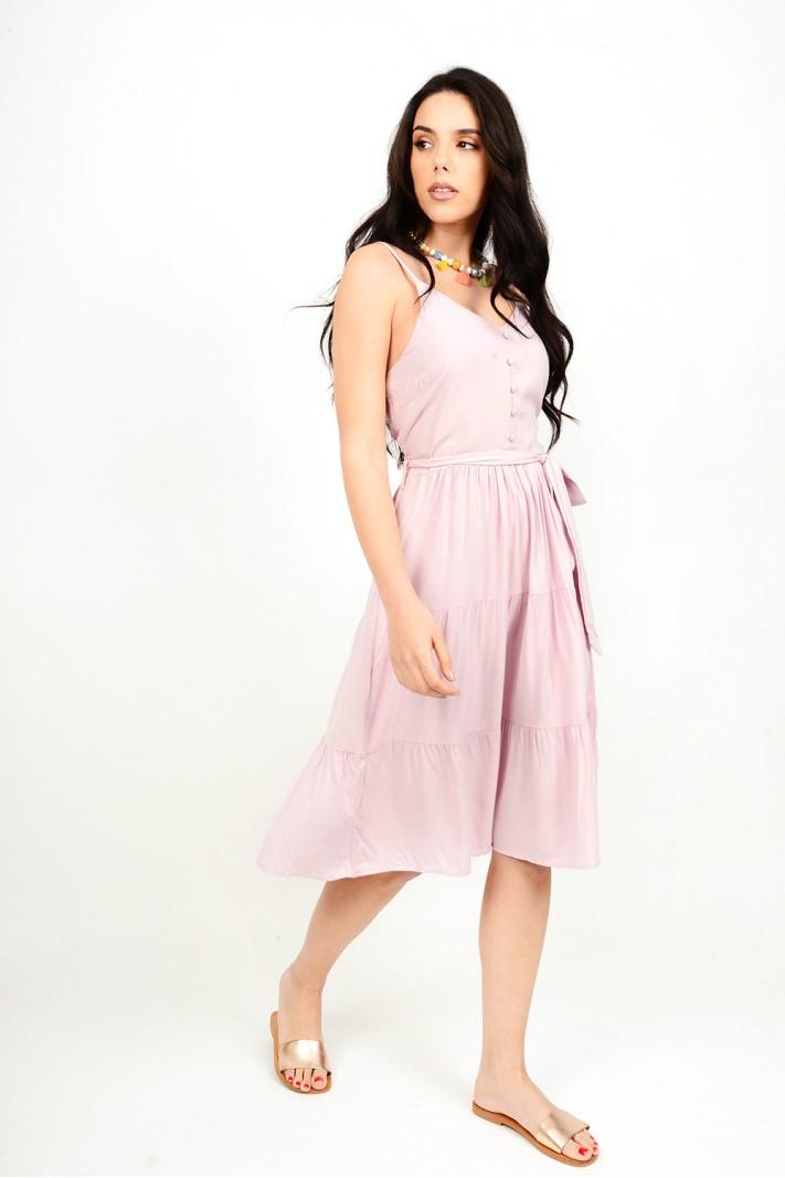 Midi dress with straps