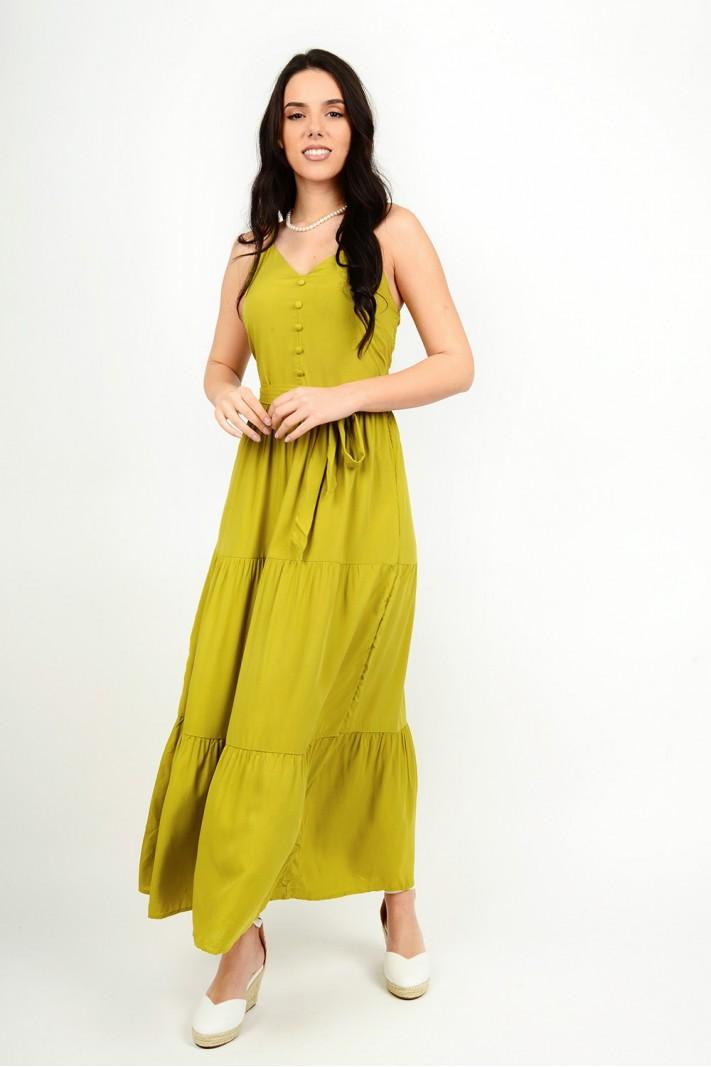 305.Φόρεμα μακρύ με τιράντες