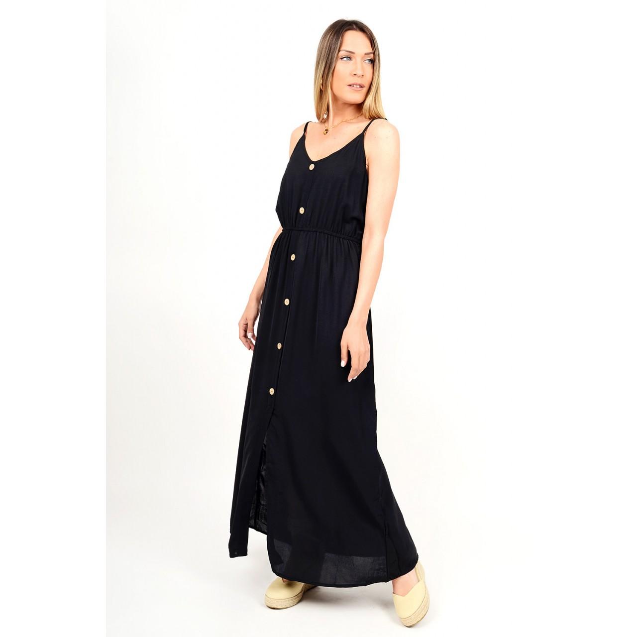 314.Φόρεμα μακρύ με κουμπιά