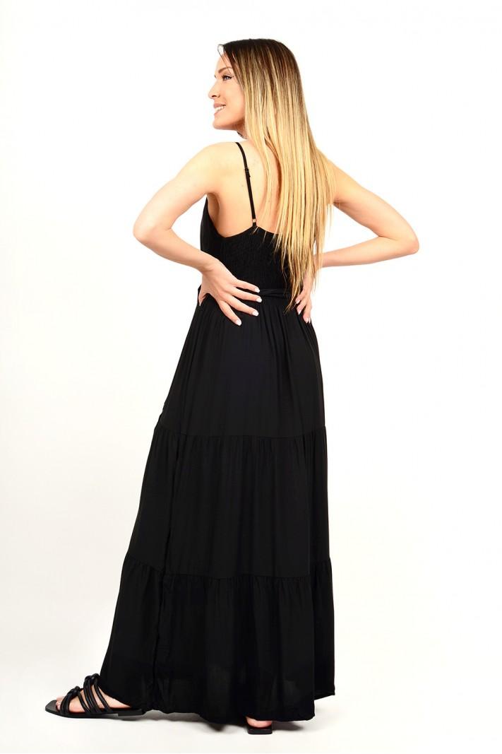 317.Φόρεμα μακρύ με τιράντες