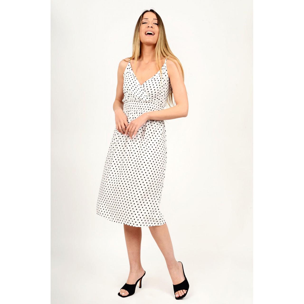 328.Φόρεμα μίντι πουά
