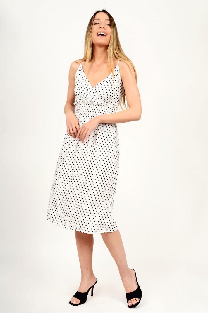 Midi polka dotted dress