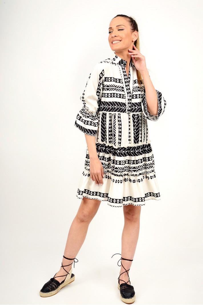 Boho ruffled dress