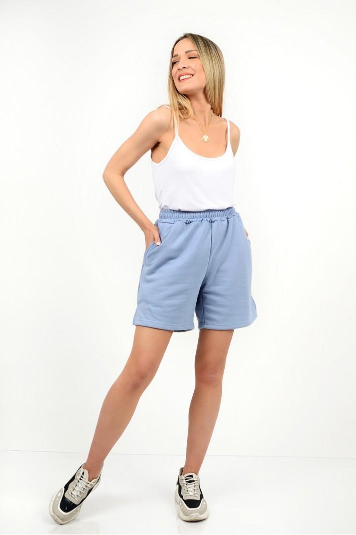 High waist shorts with pockets