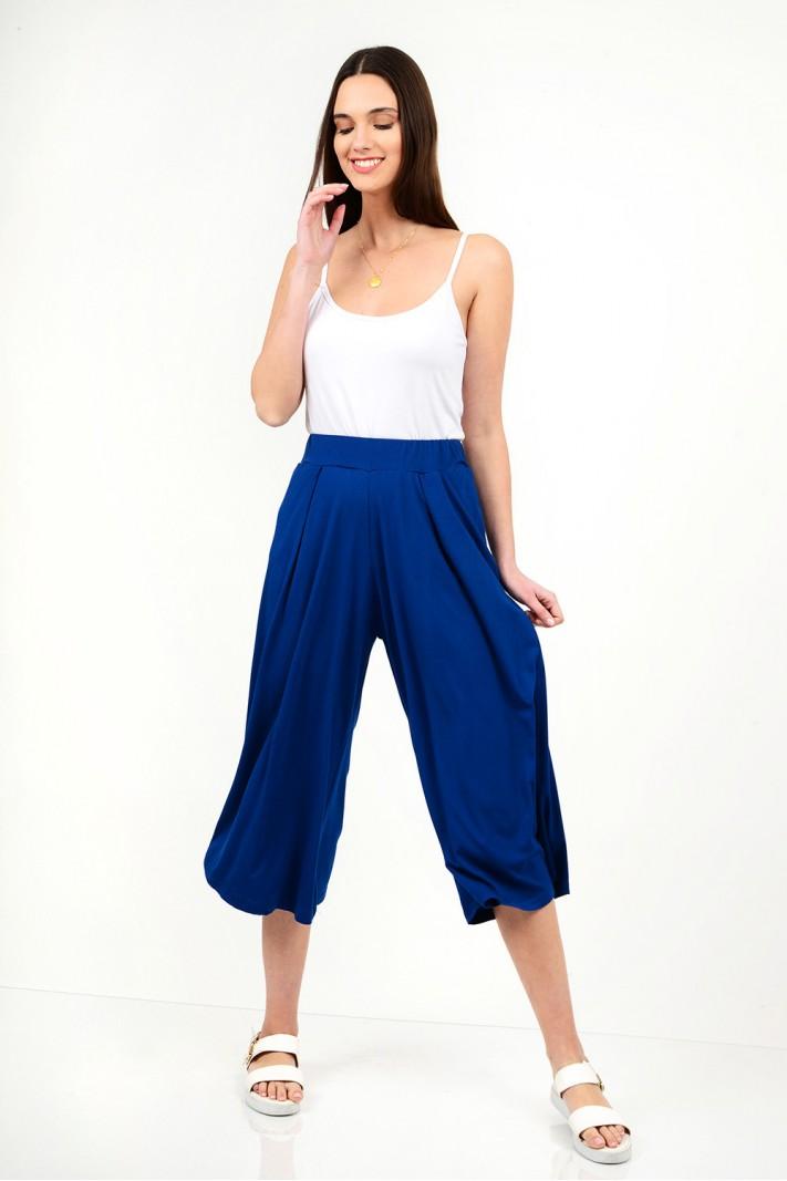 High waist zip culotte pant