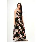 527.Φόρεμα μακρύ φλοράλ με τιράντες
