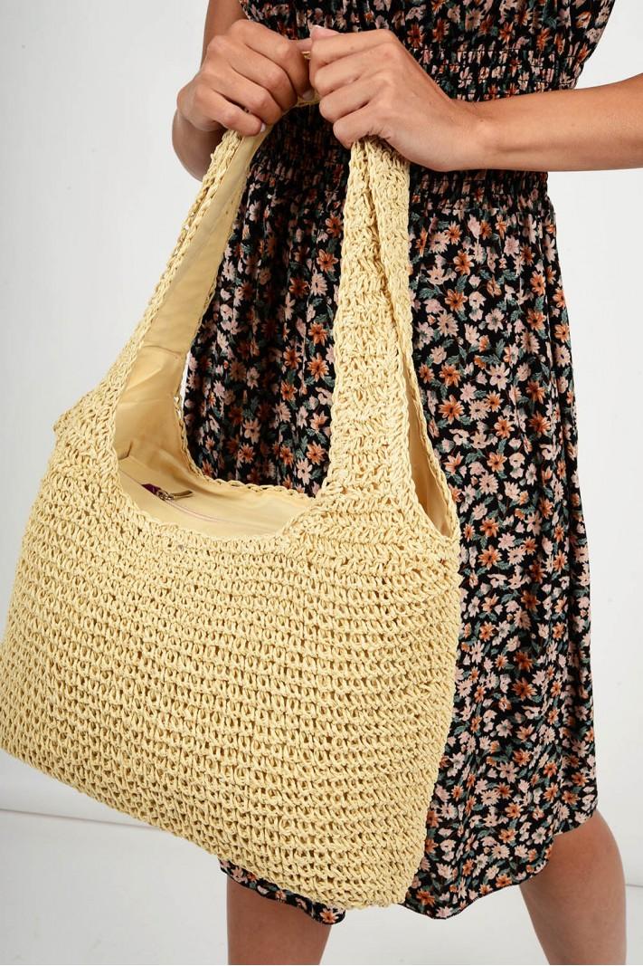 609.Τσάντα ψάθινη