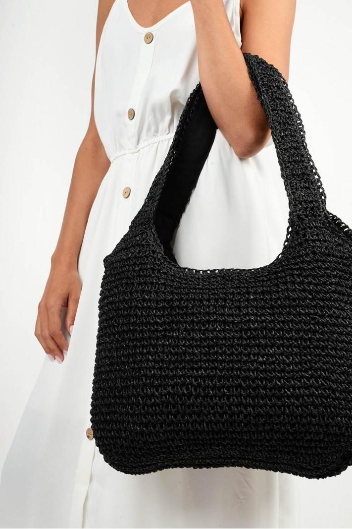 610.Τσάντα ψάθινη