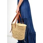 618.Τσάντα ψάθινη με χερούλι