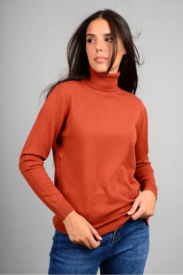 Oversized μπλούζα πλεκτή basic ζιβάγκο εκάϊ
